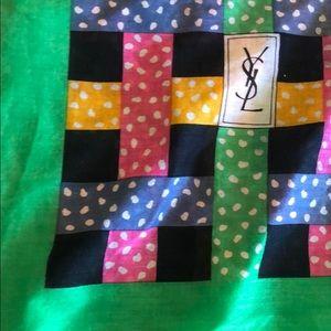 Vintage Yves Saint Laurent Cotton Scarf